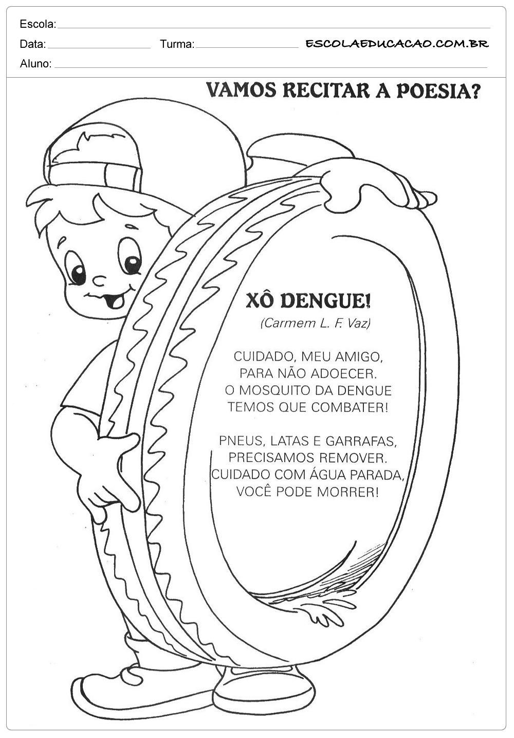 Xó Dengue – Atividades sobre a Dengue