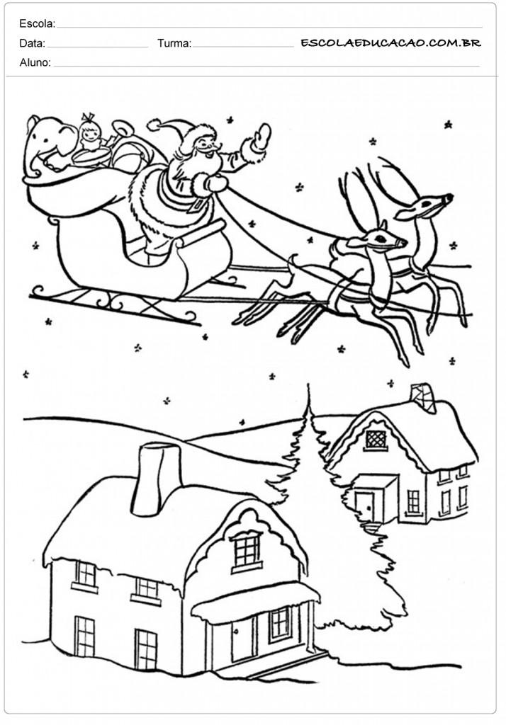Fotos Simpaticas De Papa Noel.40 Desenhos De Papai Noel Para Colorir E Imprimir