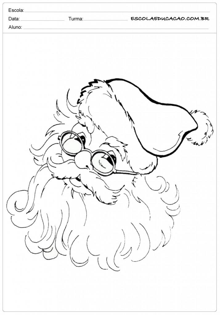 Colorindo o Papai Noel