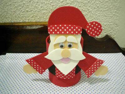 Lembrancinhas de Papai Noel na Latinha