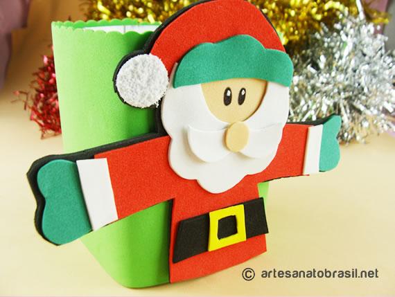Lembrancinha de Natal com caixinha de leite e EVA