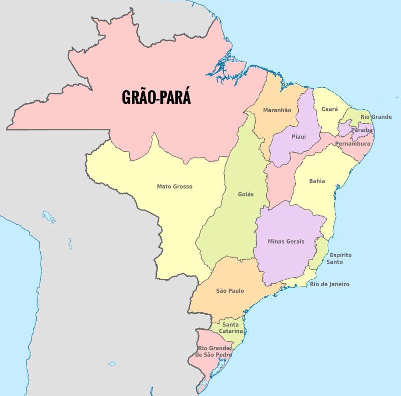 Mapa da Cabanagem: Província do Grão-Pará