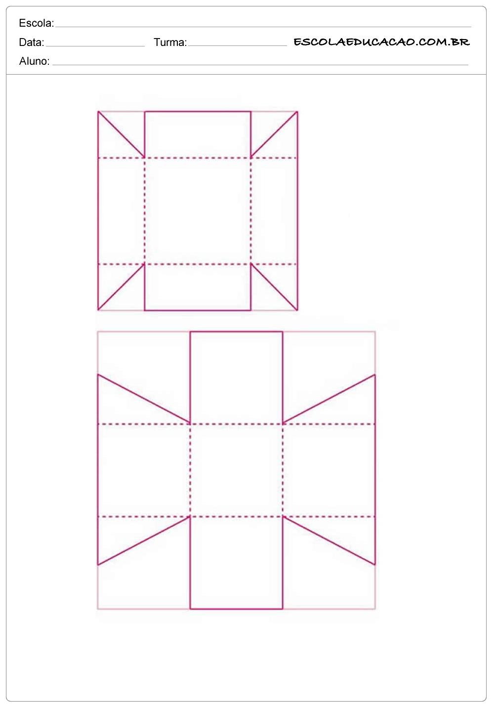 2 Caixinhas – Moldes de Caixas de Papel