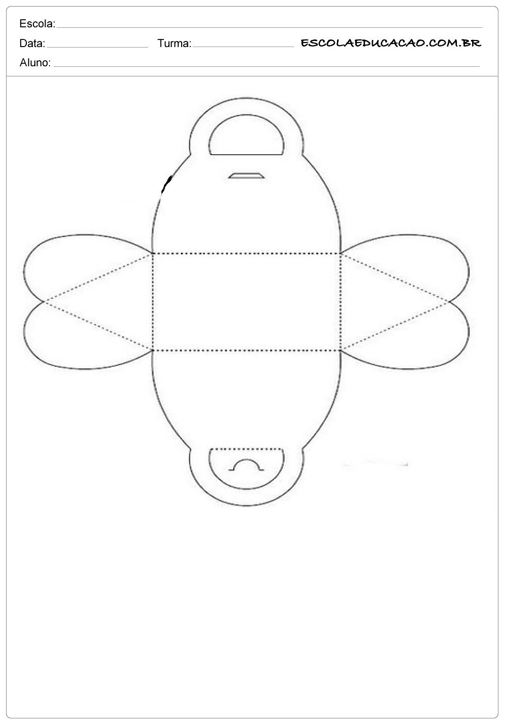 Caixinha de Argola- Moldes de Caixas de Papel