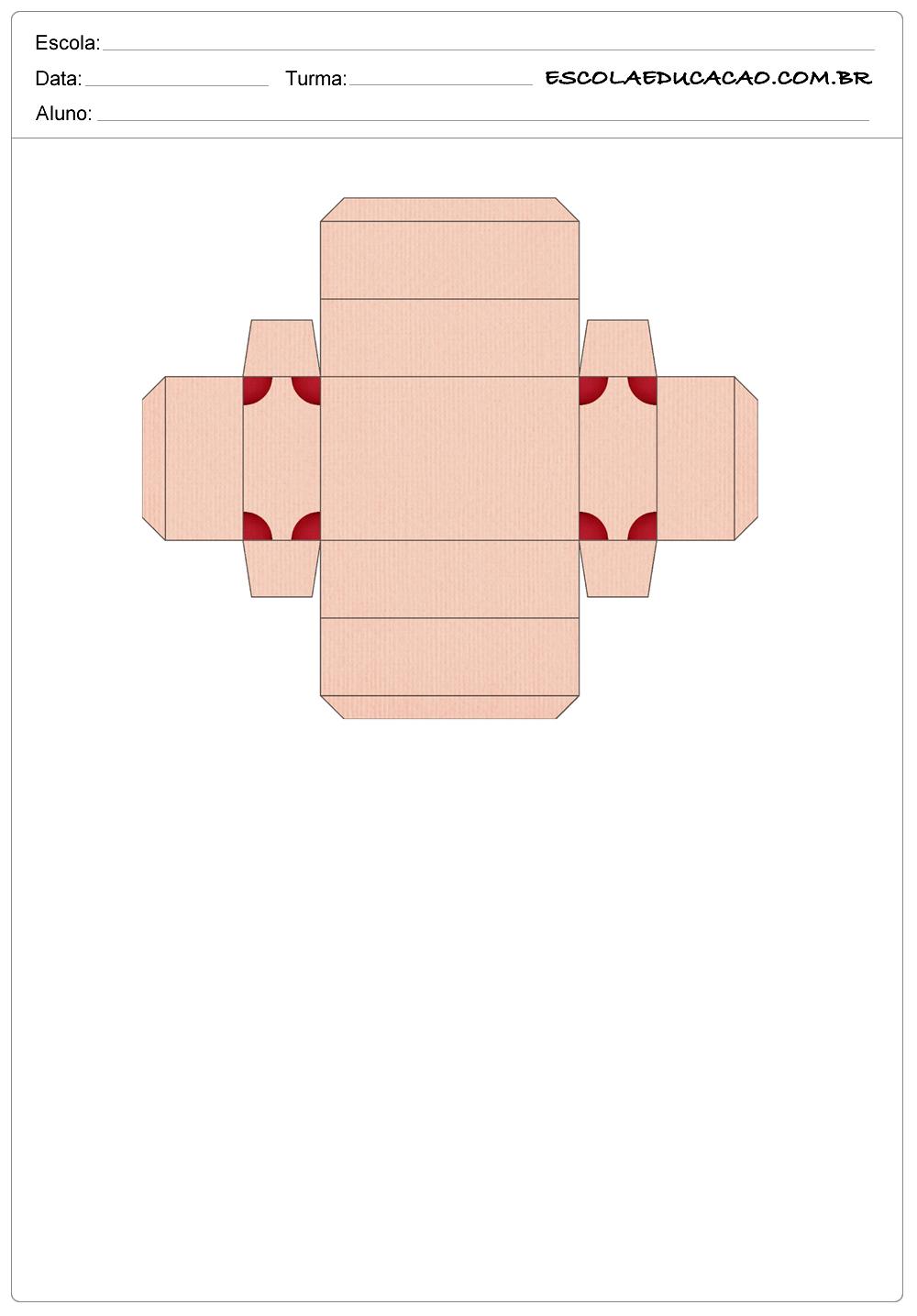 Moldes de Caixas de Papel
