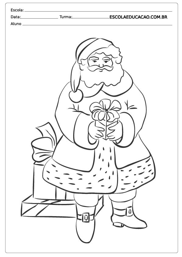 Papai Noel para colorir