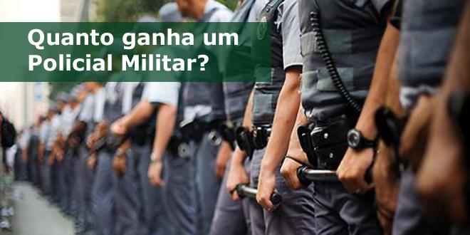 Salário de um policial militar