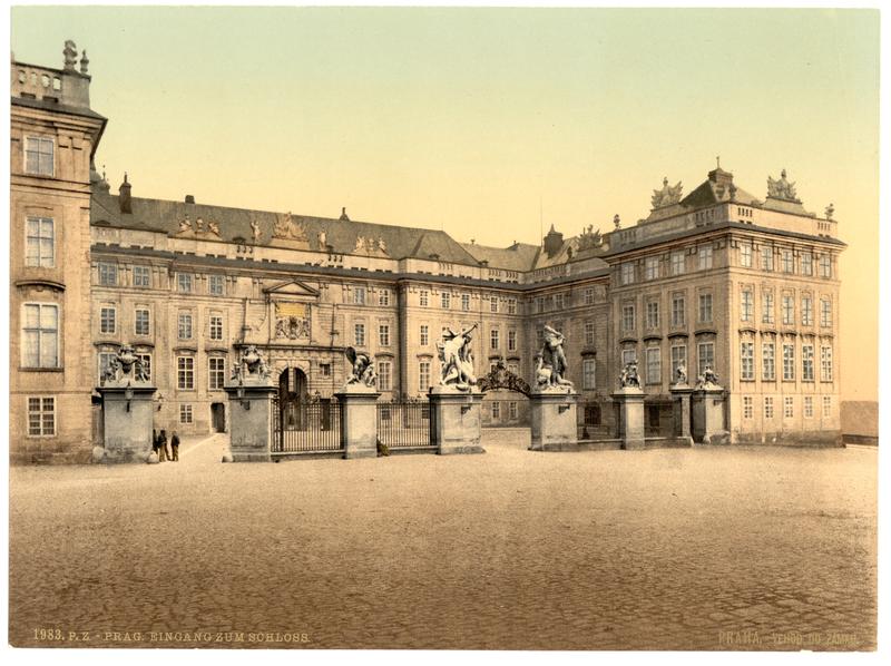 Entrada do Castelo, Praga, Boêmia, Austro-Hungria