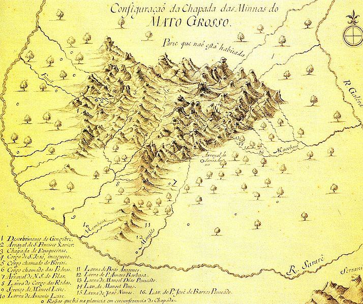 Mapa das Minas no Mato Grosso