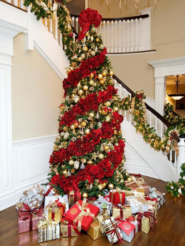 Árvore de Natal com Rosas