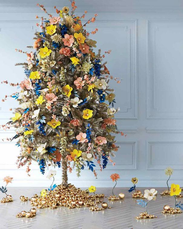 Árvore de Natal Pequena Floral