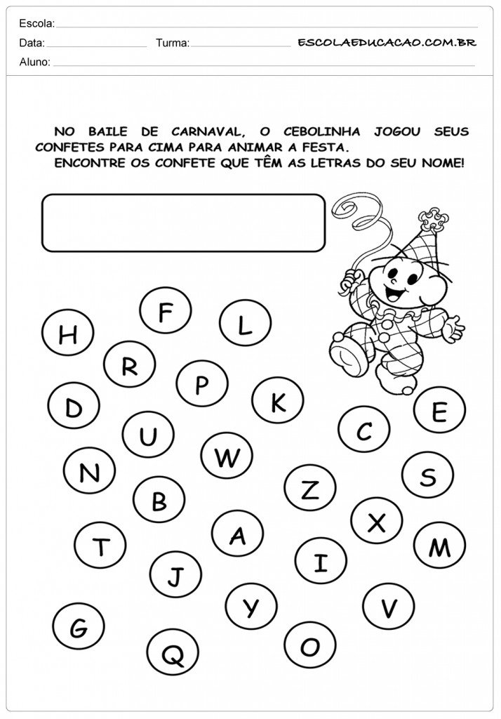 Populares Atividades de Carnaval para Educação Infantil BH25