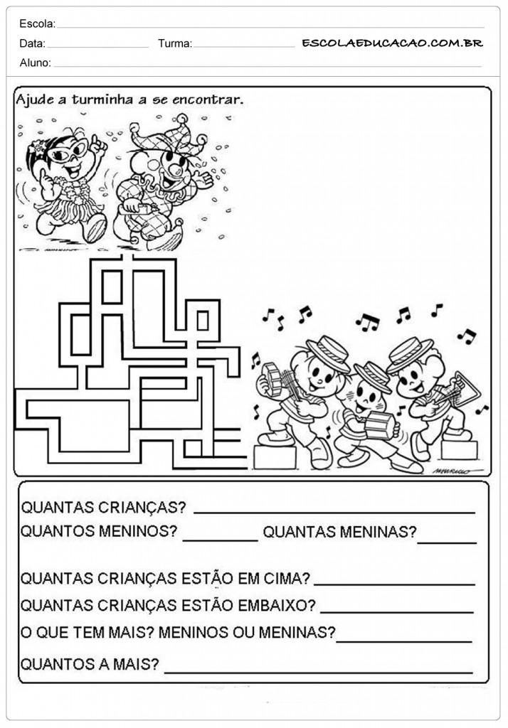 Atividades de Carnaval - Labirinto
