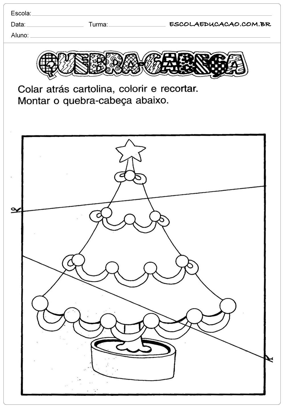 Atividades de Natal – Quebra Cabeça