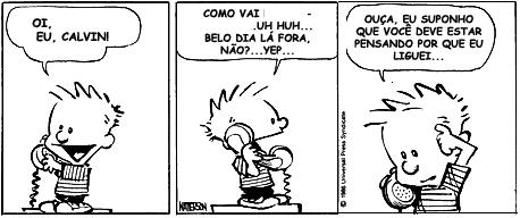 Calvin e haroldo função fática