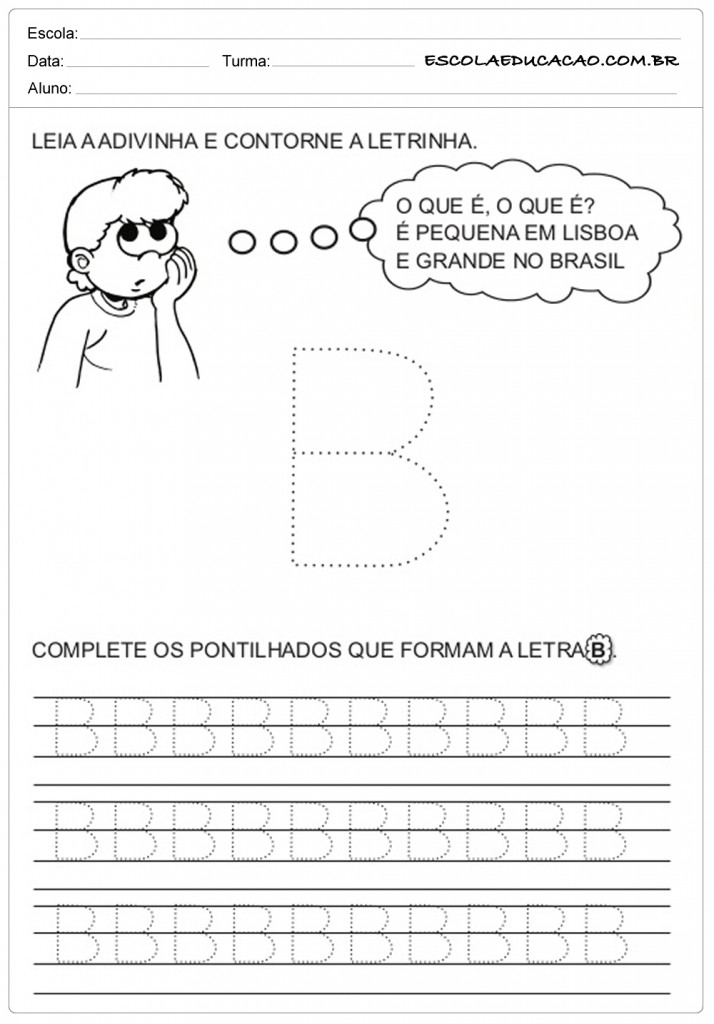 Contorne a letra B