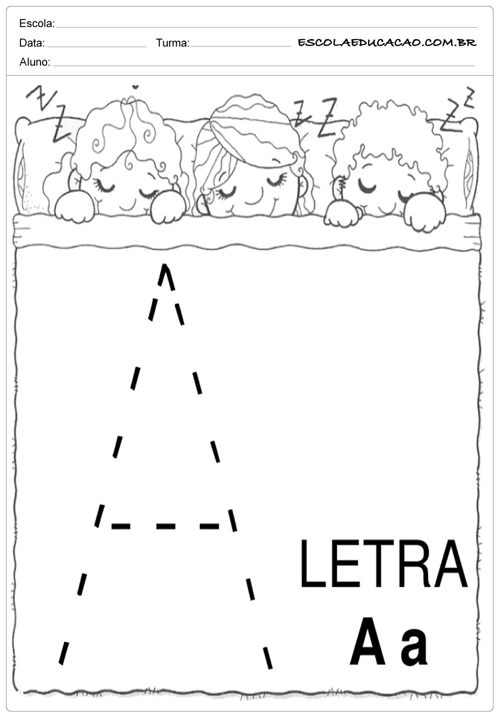 Coordenação Motora – Letra A