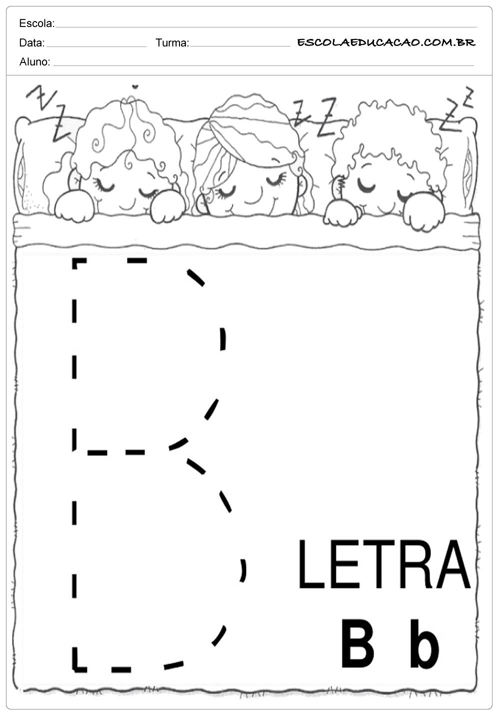 Coordenação Motora – Letra B