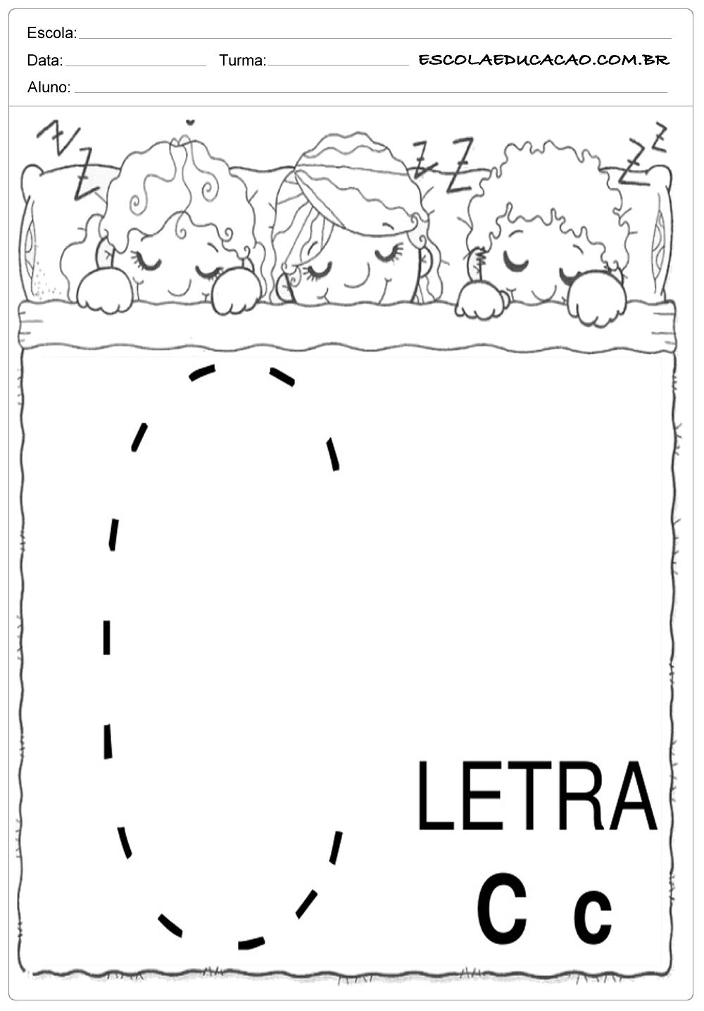 Coordenação Motora – Letra C