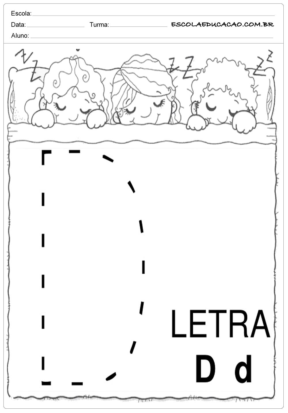 Coordenação Motora – Letra D
