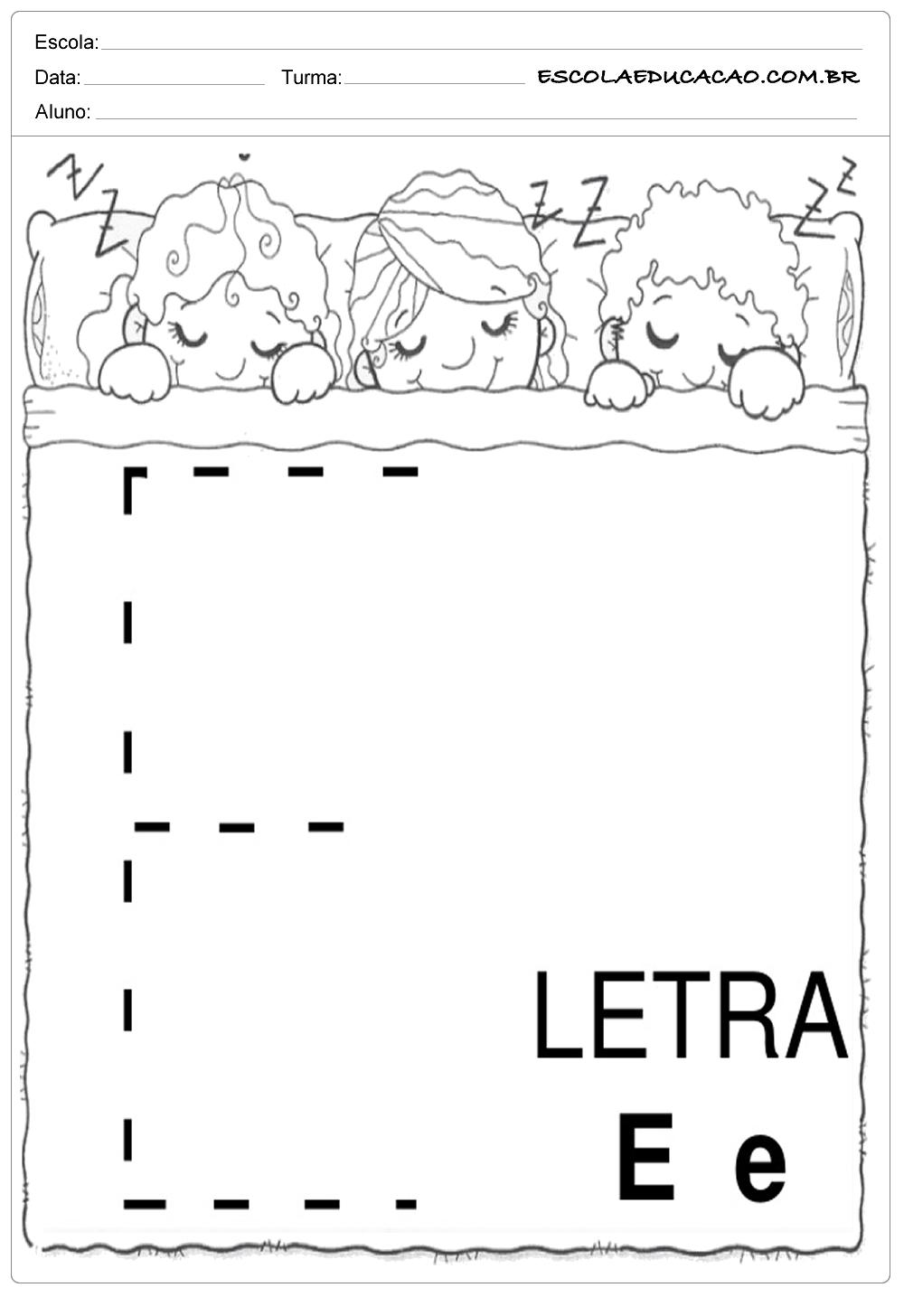 Coordenação Motora – Letra E