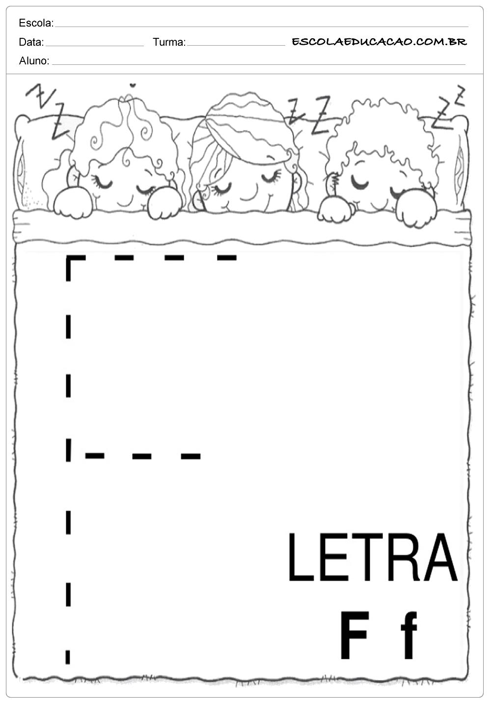 Coordenação Motora – Letra F