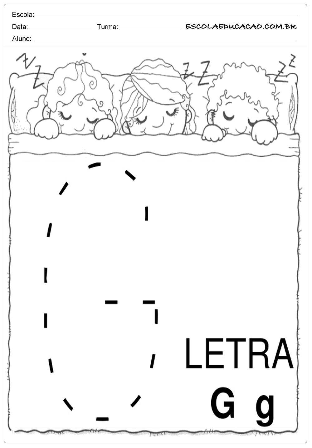 Coordenação Motora – Letra G