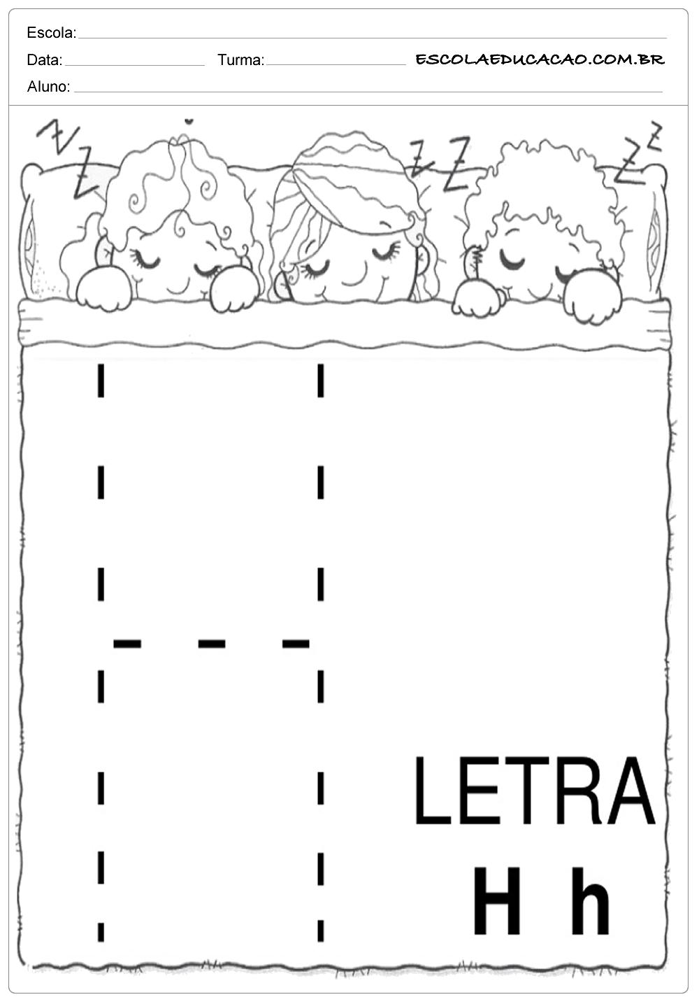 Coordenação Motora – Letra H