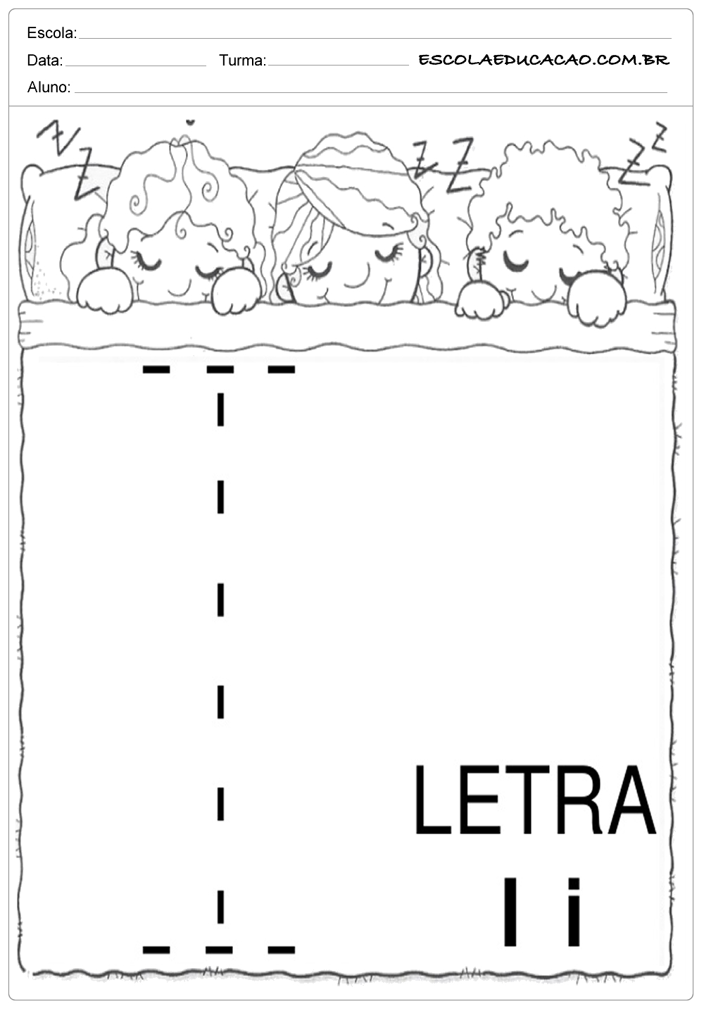 Coordenação Motora – Letra I