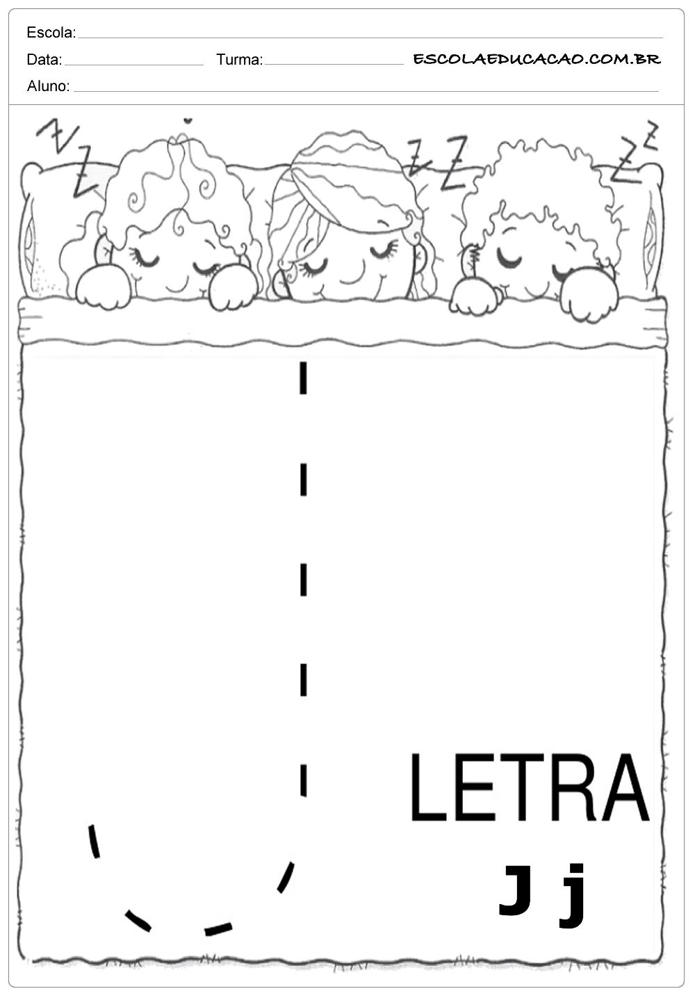 Coordenação Motora – Letra J