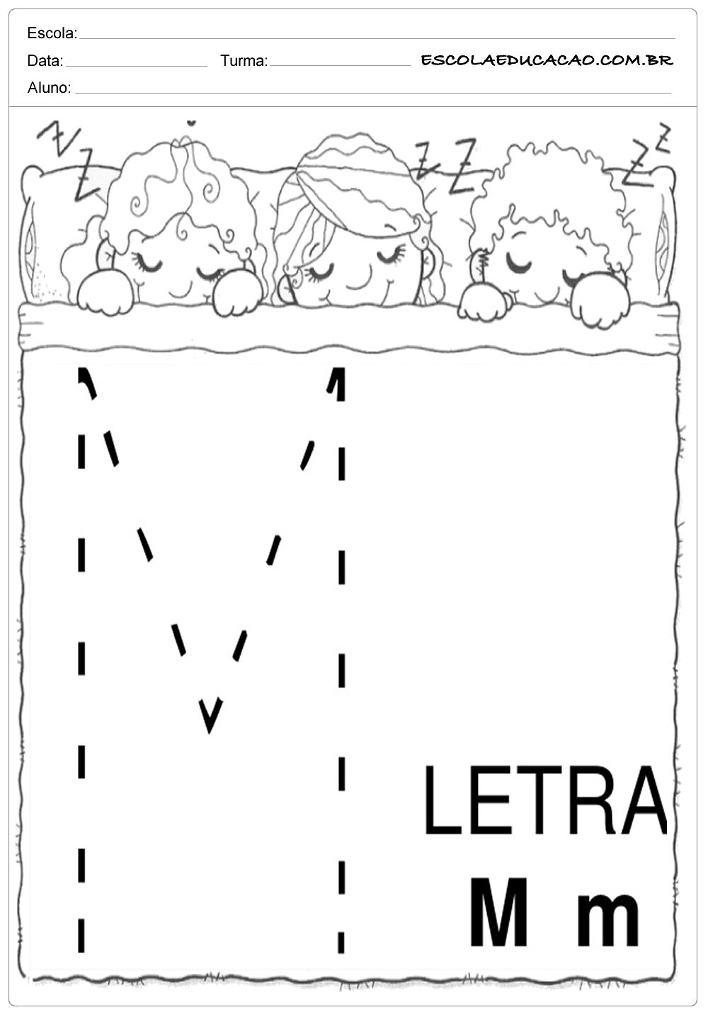 Coordenação Motora – Letra M