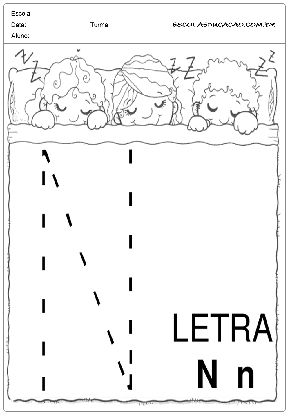 Coordenação Motora – Letra N