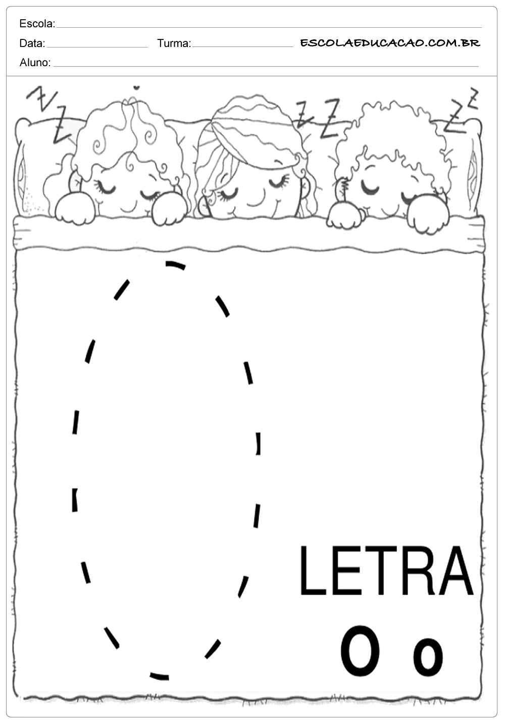 Coordenação Motora – Letra O