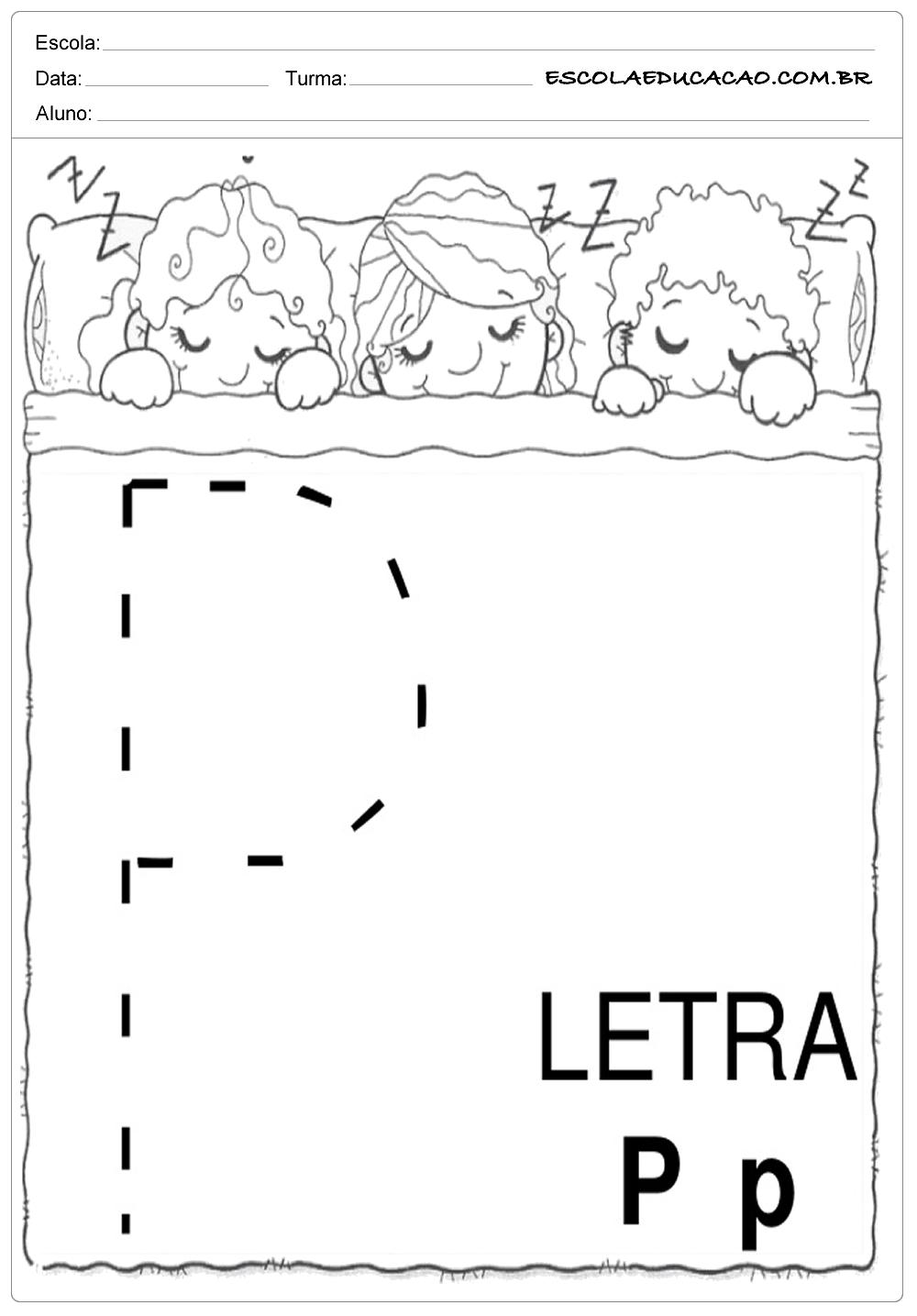 Coordenação Motora – Letra P