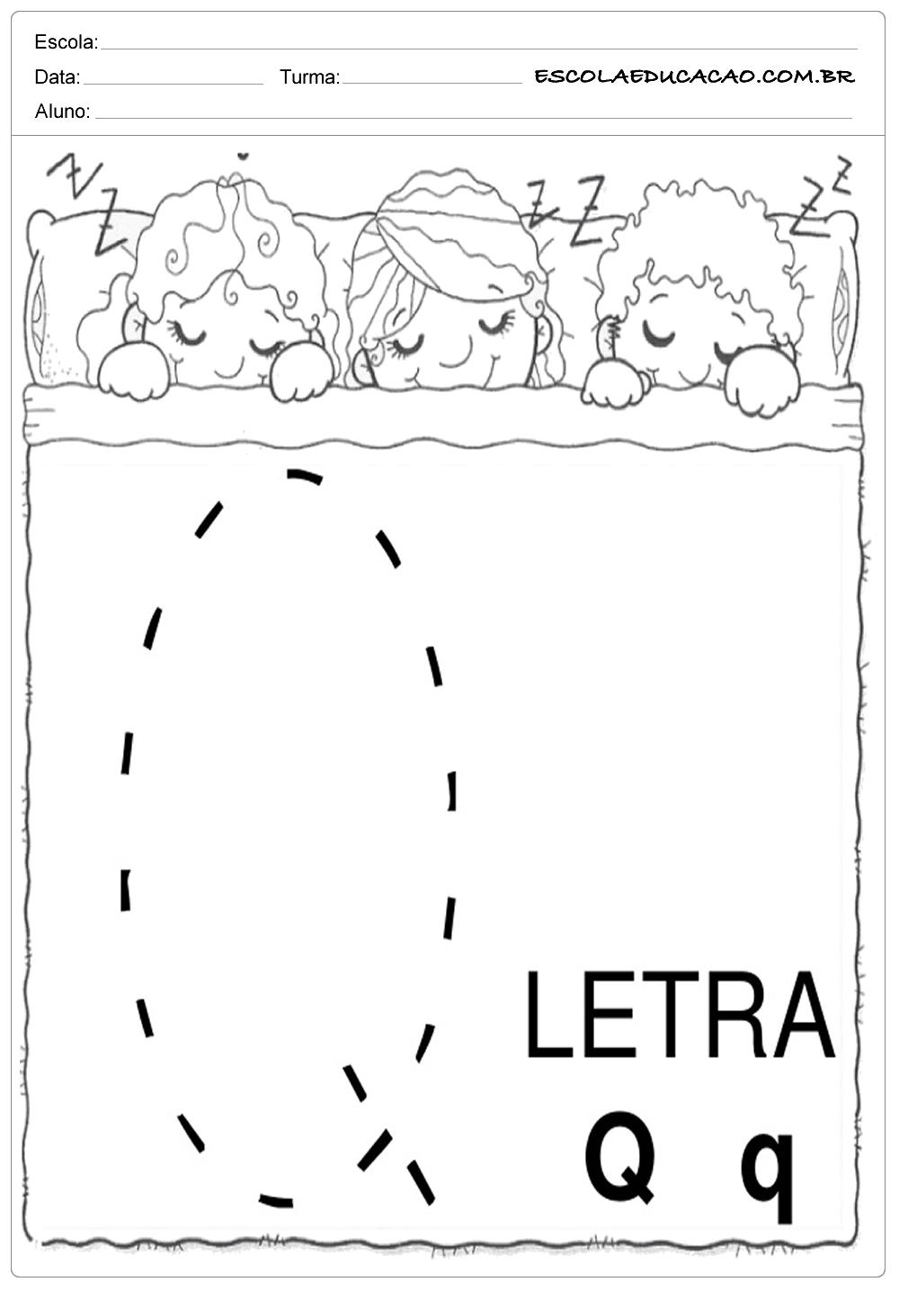 Coordenação Motora – Letra Q