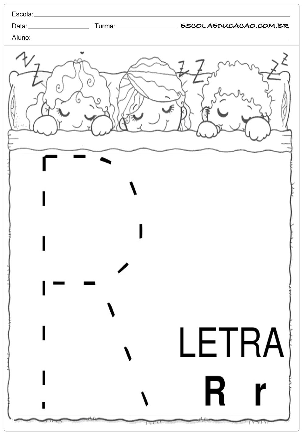 Coordenação Motora – Letra R