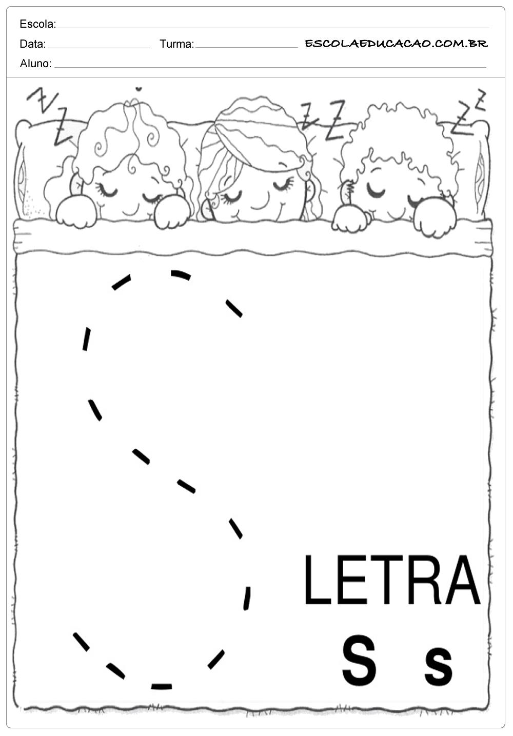 Coordenação Motora – Letra S