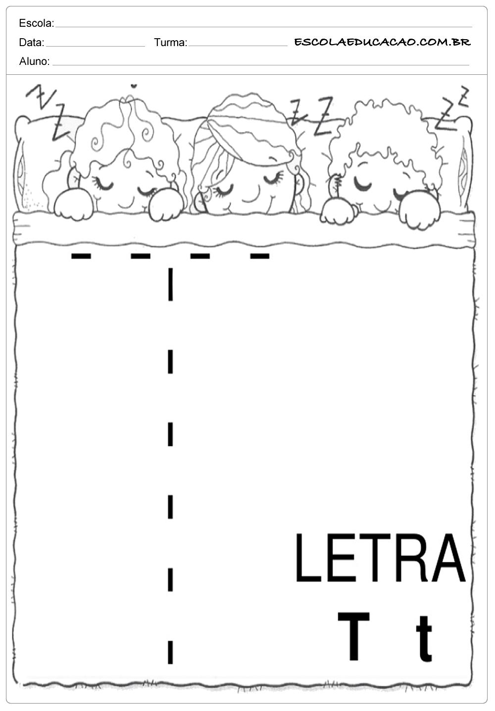 Coordenação Motora – Letra T