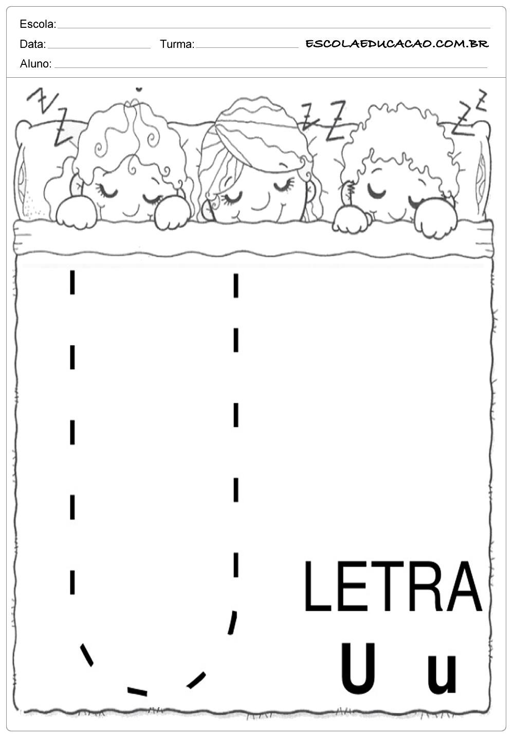 Coordenação Motora – Letra U