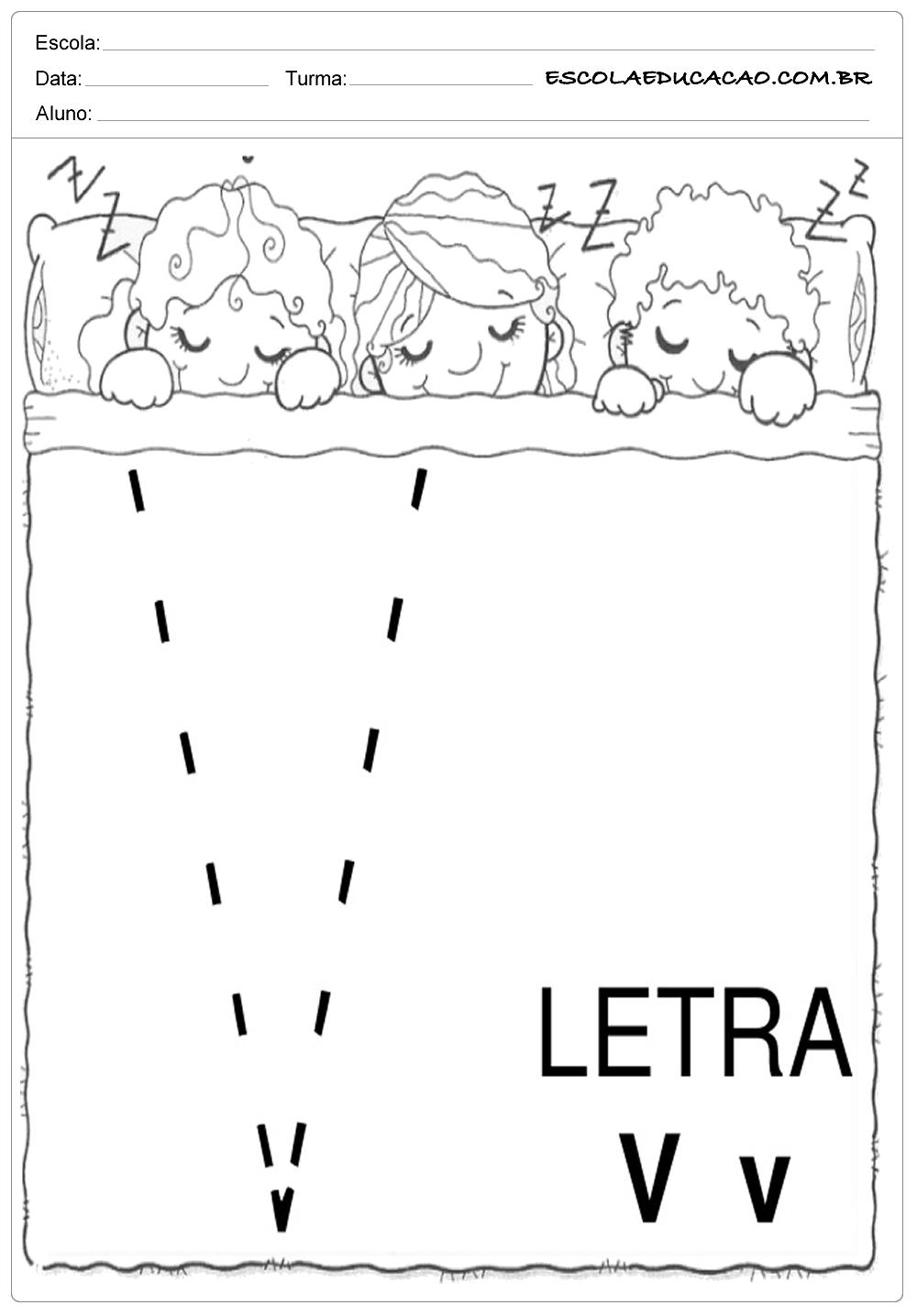 Coordenação Motora – Letra V