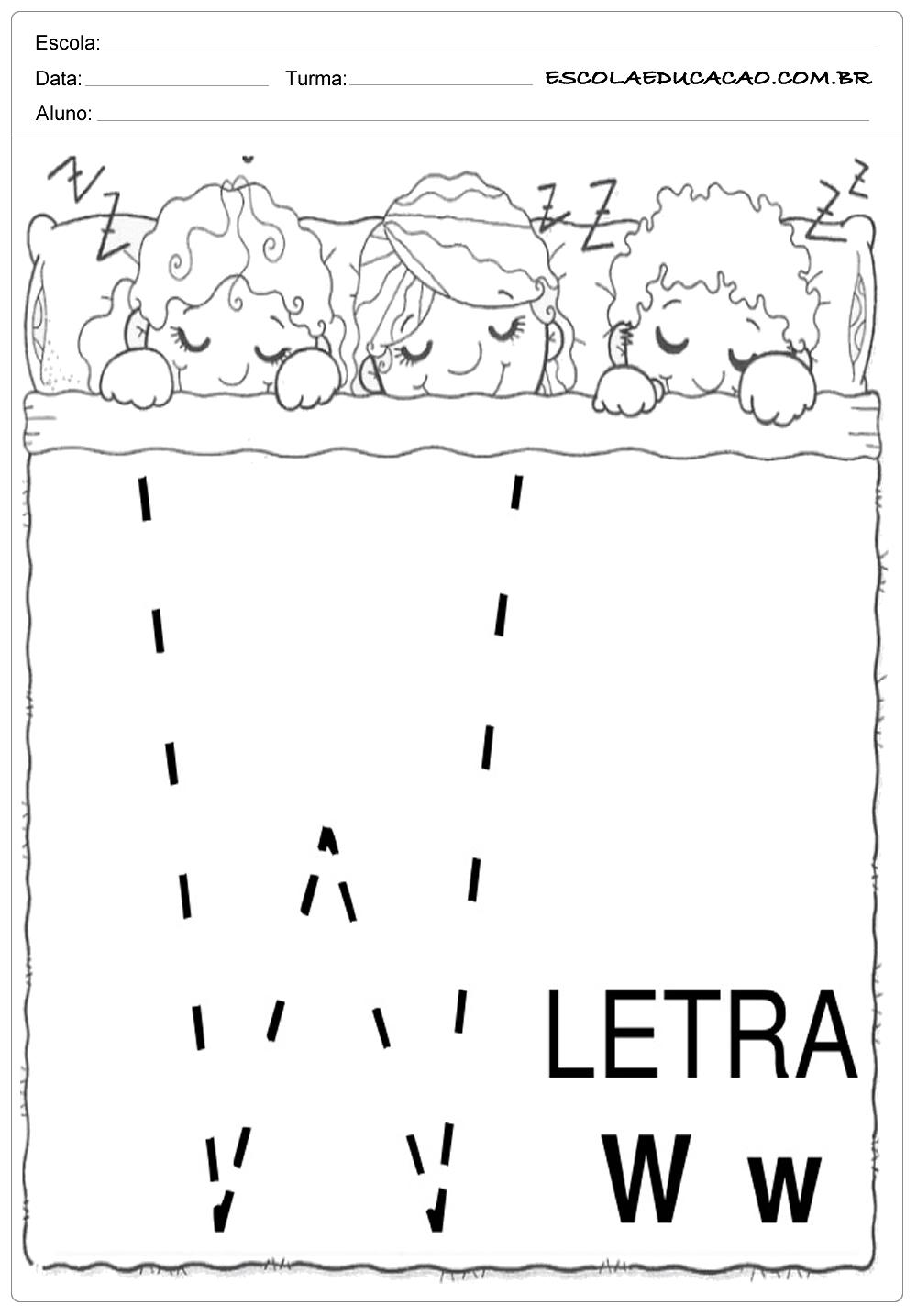 Coordenação Motora – Letra W