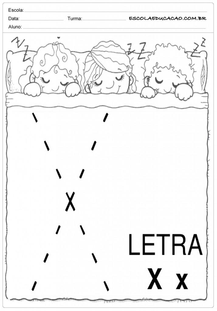 Coordenação Motora - Letra X