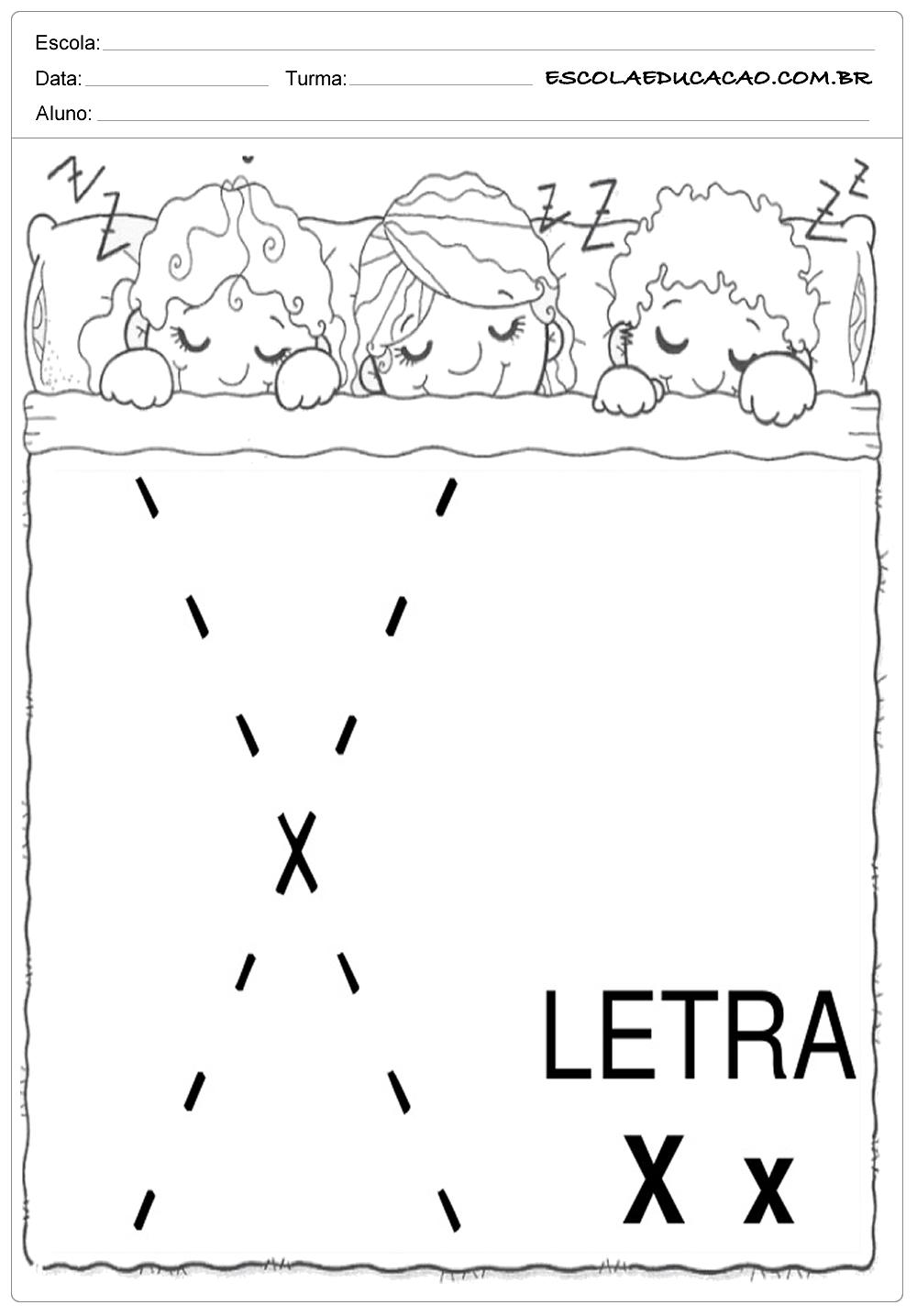Coordenação Motora – Letra X
