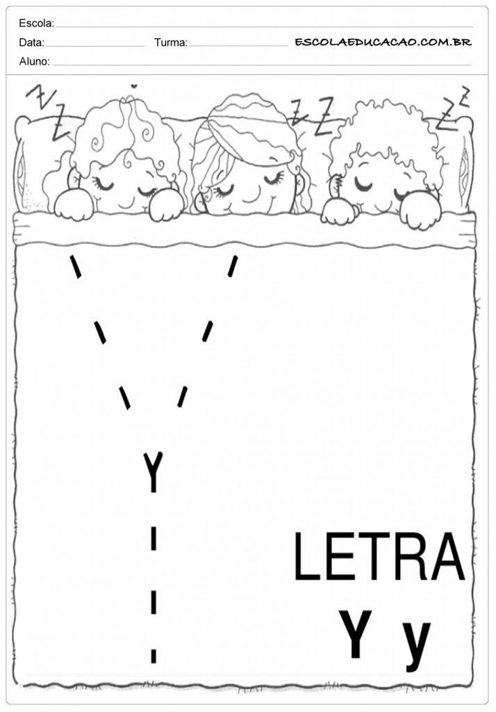 Coordenação Motora - Letra Y