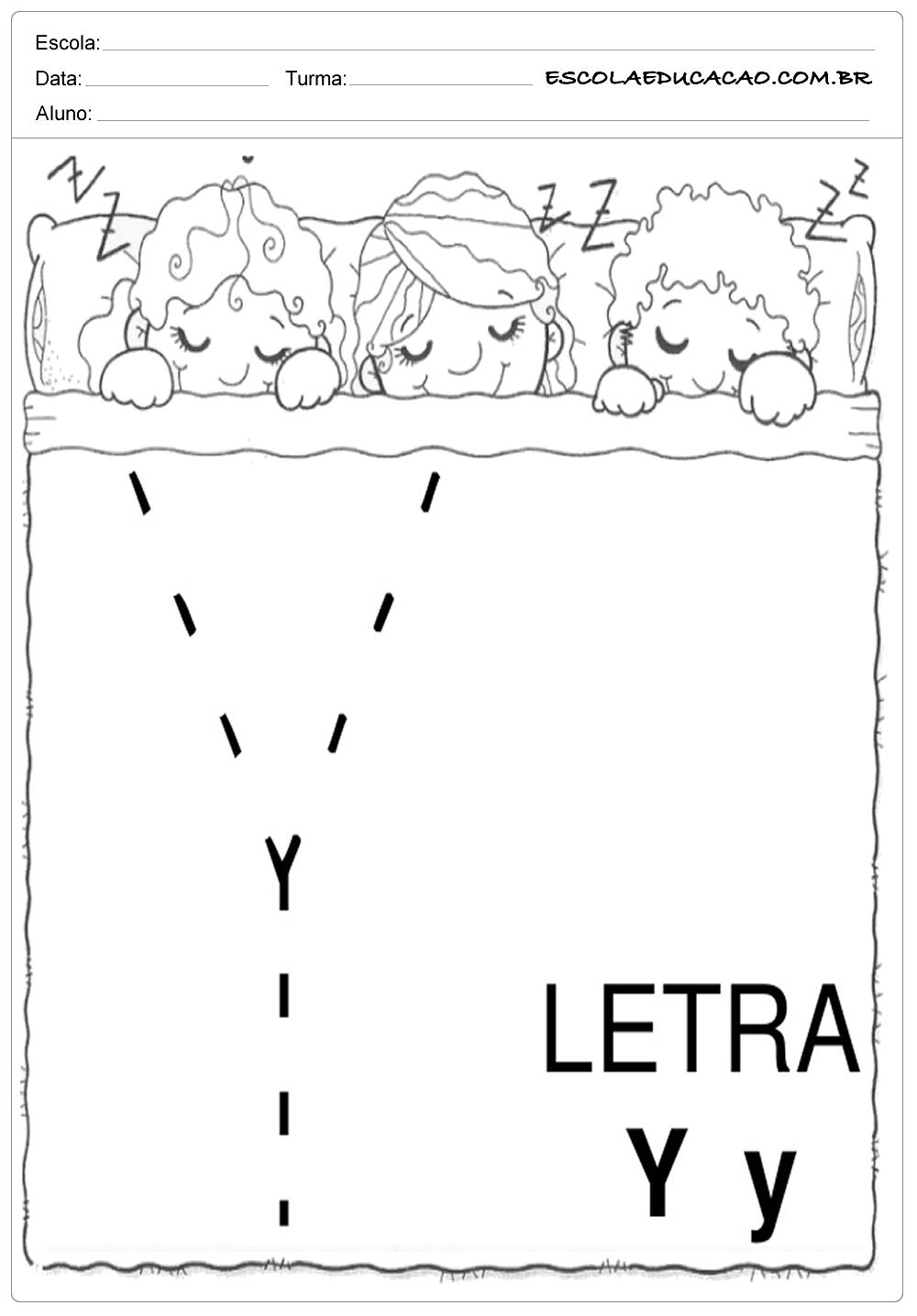 Coordenação Motora – Letra Y