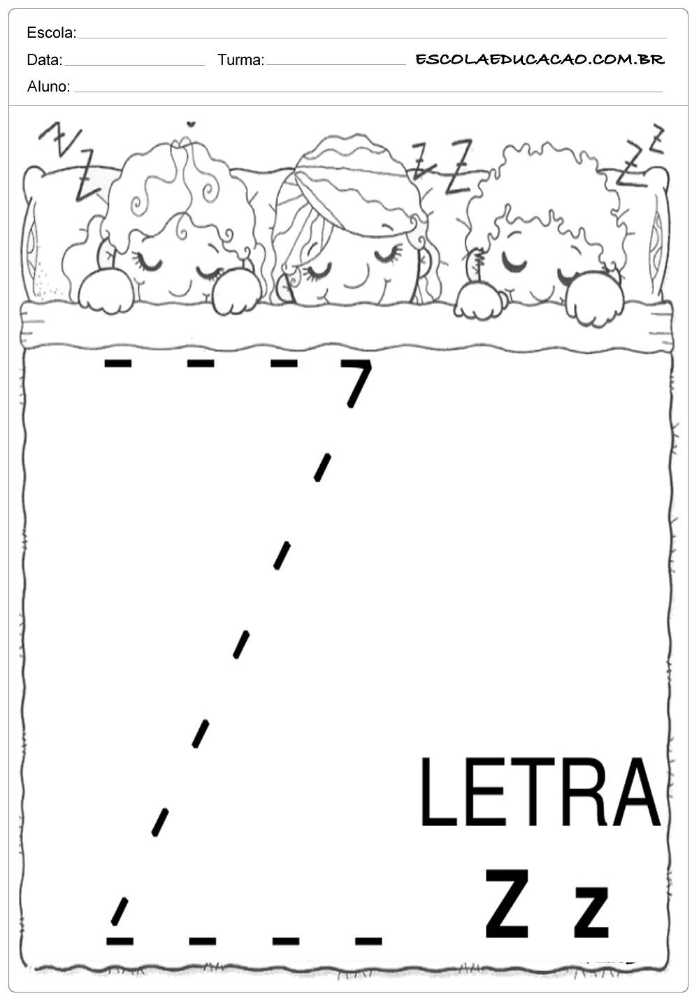 Coordenação Motora – Letra Z