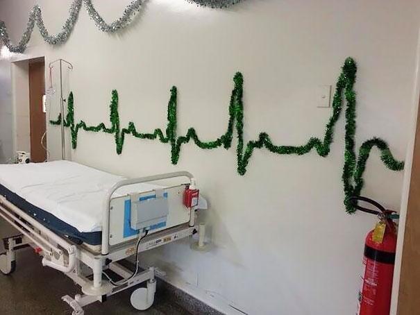 Decoração de natal para hospitais
