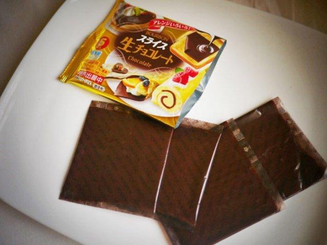 Embalagem de chocolate em fatia