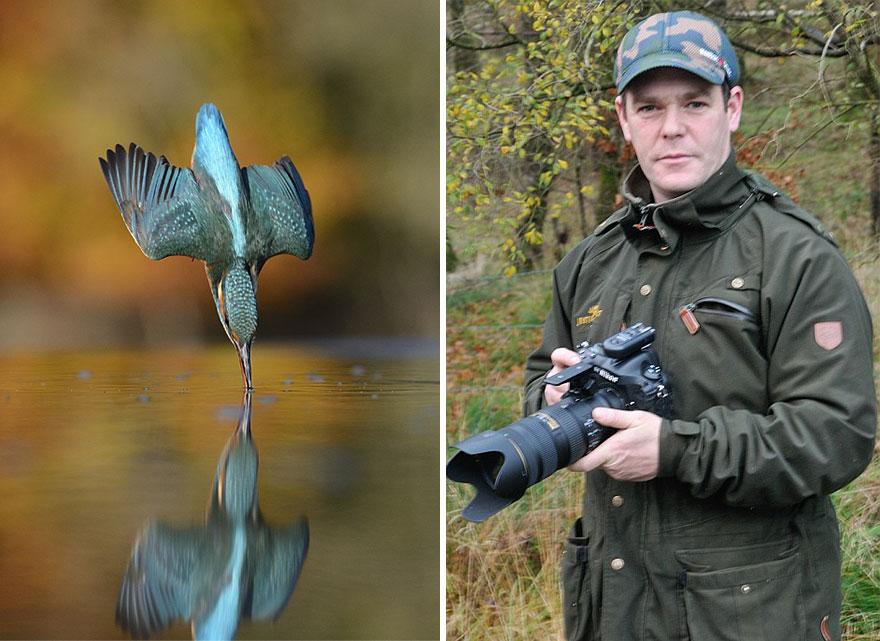 Fotografo que tira foto de passaros