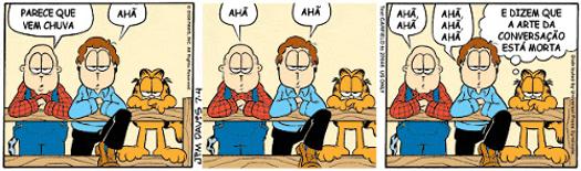 Garfield função fática